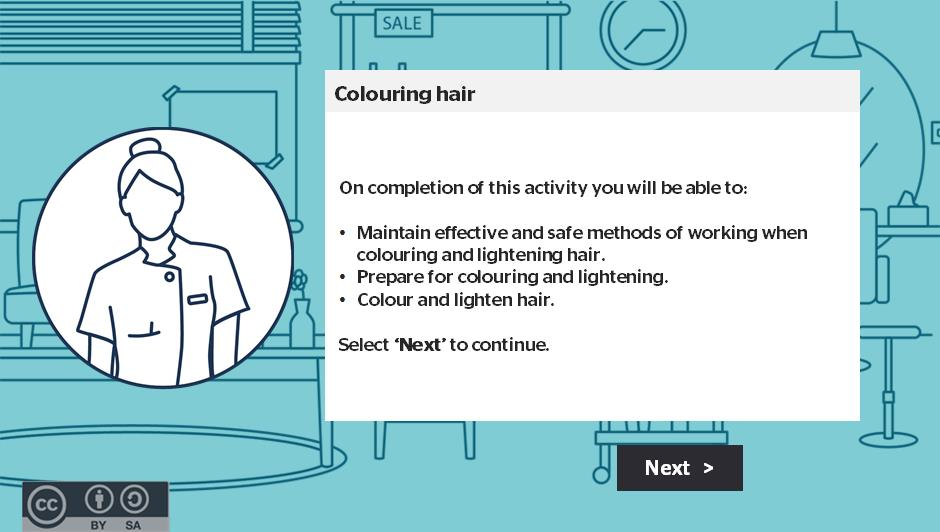 Colouring hair activity thumbnail