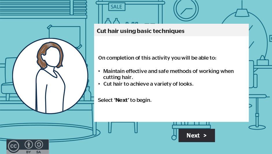 Cut hair using basic techniques activity thumbnail