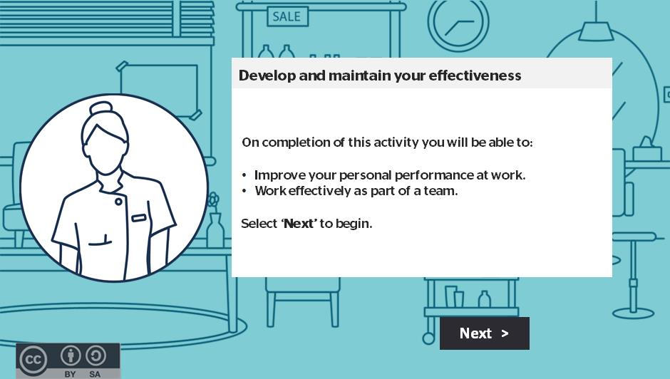 Develop and maintain your effectiveness activity thumbnail