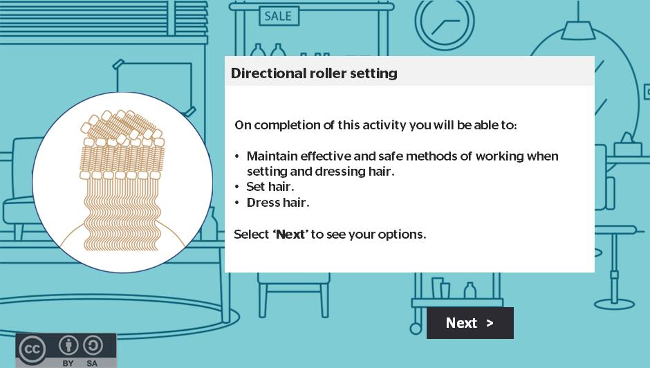 Directional roller setting activity thumbnail