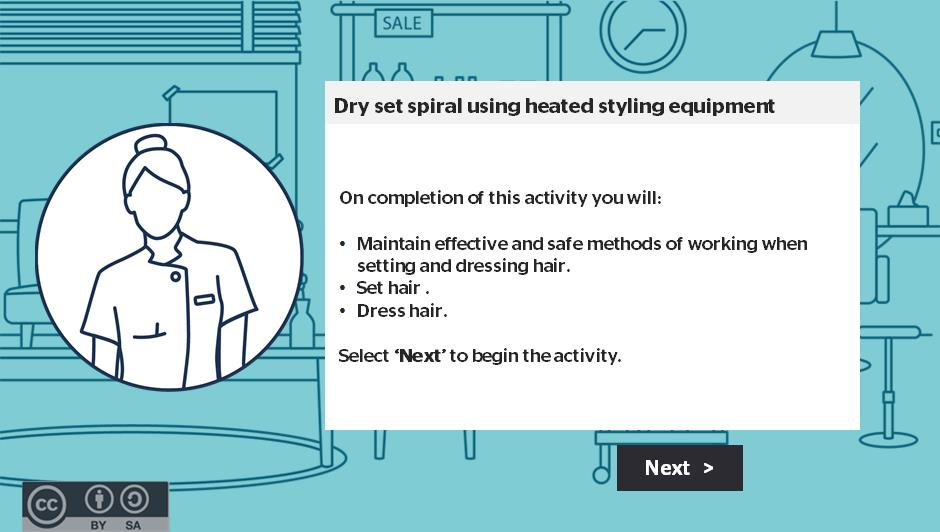 Dry set spiral using heated styling equipment activity thumbnail