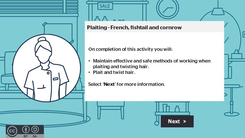 Plaiting French, fishtail and cornrow activity thumbnail