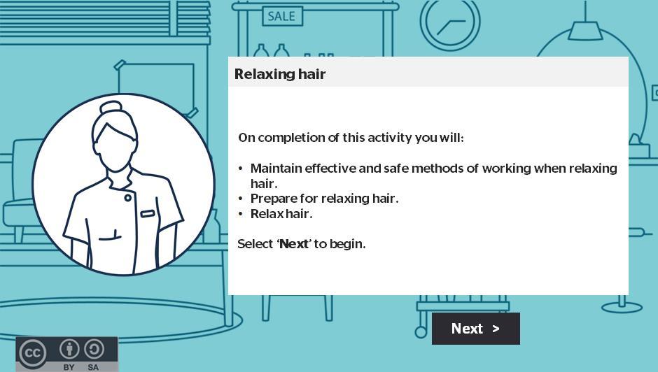 Relaxing hair activity thumbnail