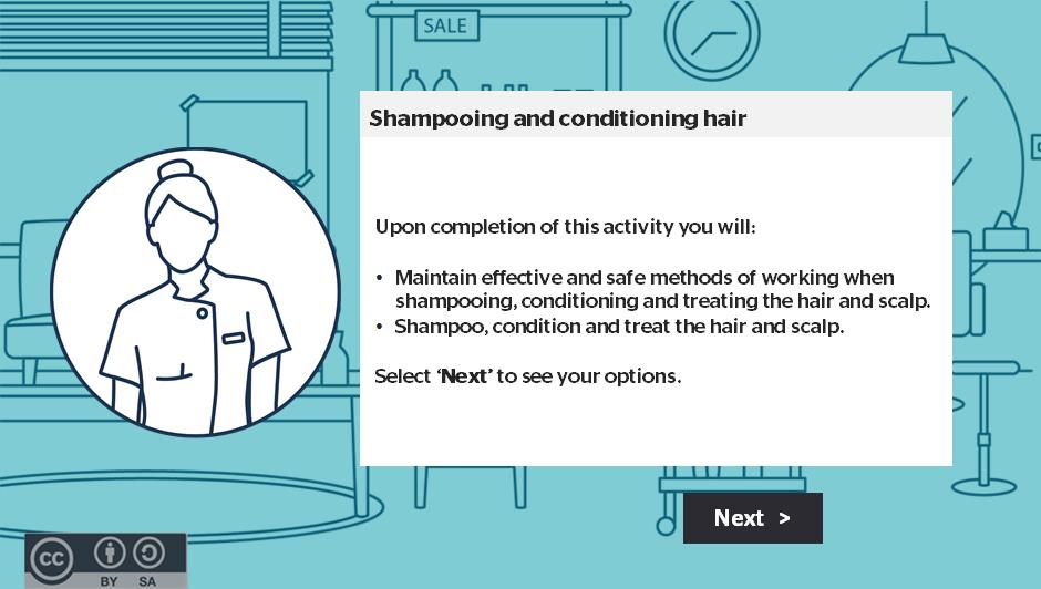 Shampooing and conditioning hair activity thumbnail
