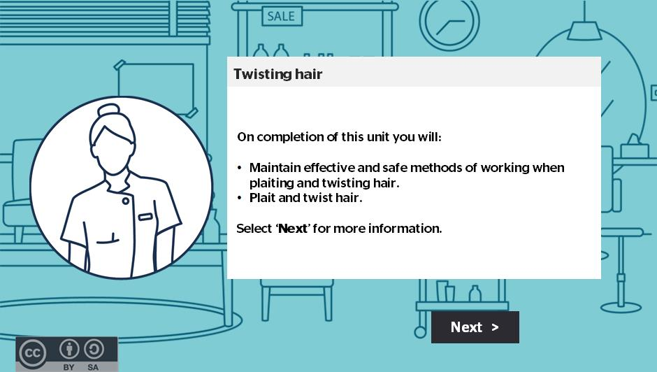 Twisting hair activity thumbnail