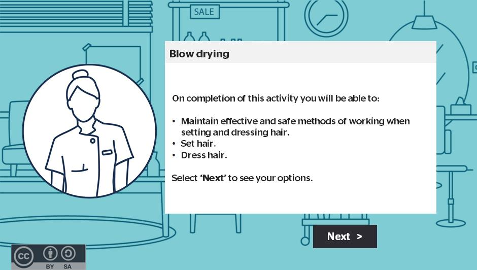 Blow drying activity thumbnail