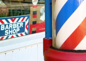 Image of a sign for a barber shop